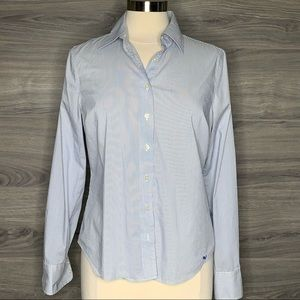 Vineyard Vines Blue Striped Button Down Top Size8
